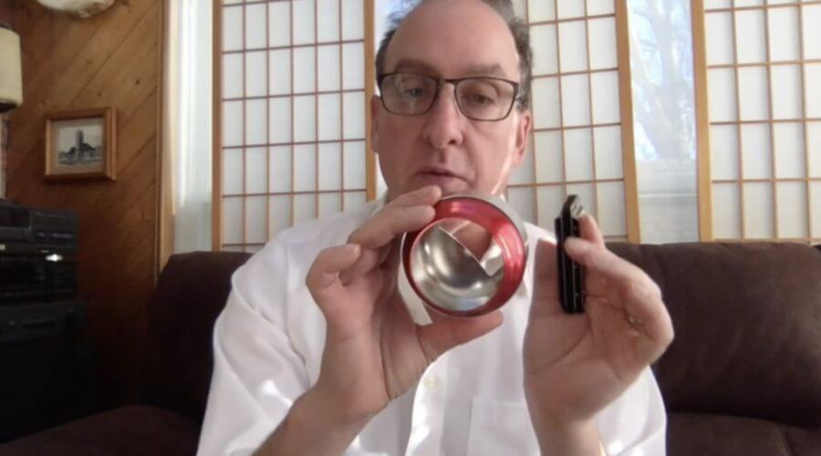 Holding The Harmonica Cup Mute