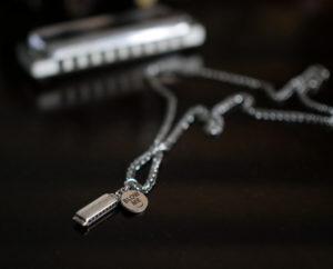 gift ideas for harmonica playersfunny Harmonica necklace